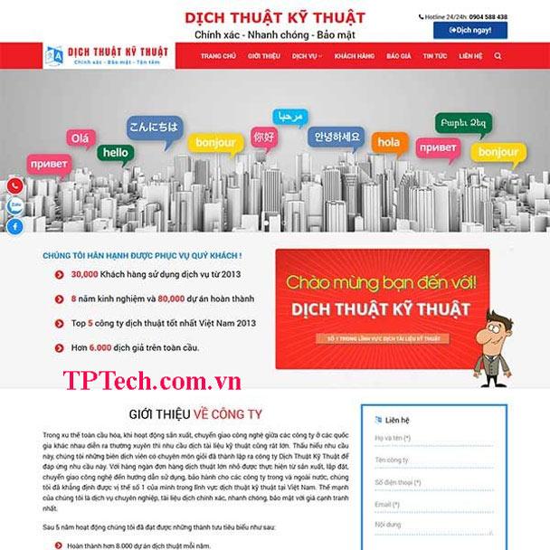 Mẫu website công ty dịch thuật công chứng TP38