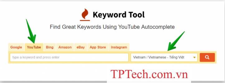 Sử dụng Keyword Tools để tìm từ khóa SEO Youtube