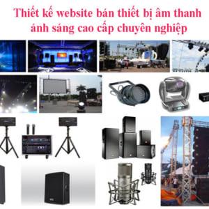 Thiết Kế Website Bán Thiết Bị âm Thanh ánh Sáng Cao Cấp