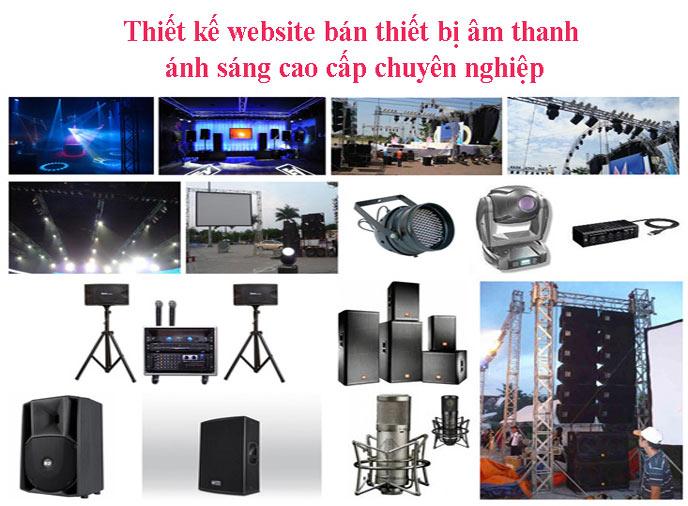 Thiết Kế Website Bán Thiết Bị âm Thanh ánh Sáng Cao Cấp Chuyên Nghiệp