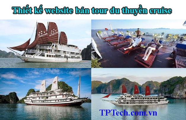 Thiết kế website bán tour du thuyền cruise cao cấp