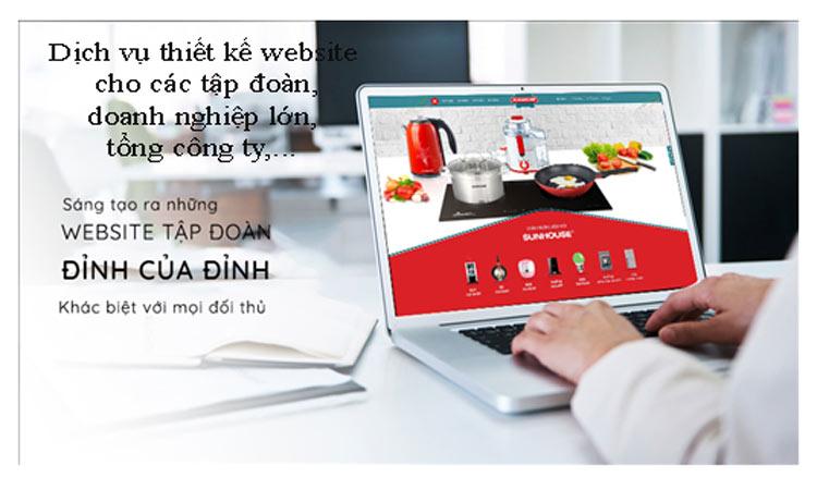 Thiết kế website tập đoàn group tổng công ty chuyên nghiệp đẳng cấp